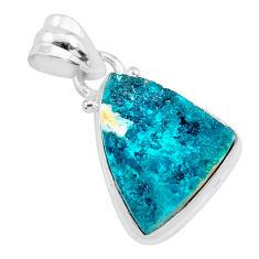8.84cts natural dioptase 925 sterling silver pendant jewelry t3240