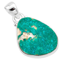 10.62cts natural dioptase 925 sterling silver pendant jewelry t3242