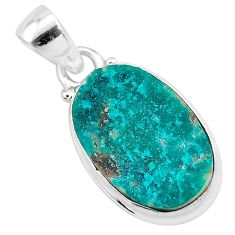 9.77cts natural dioptase 925 sterling silver pendant jewelry t3244
