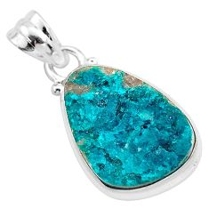 10.74cts natural dioptase 925 sterling silver pendant jewelry t3248