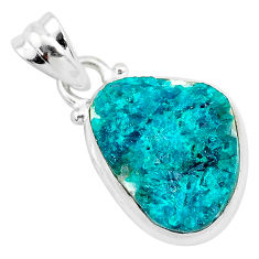 8.56cts natural dioptase 925 sterling silver pendant jewelry t3252