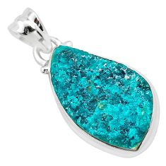 10.70cts natural dioptase 925 sterling silver pendant jewelry t3253