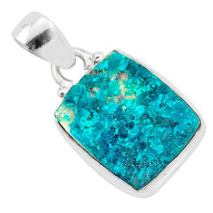 8.45cts natural dioptase 925 sterling silver pendant jewelry t3255
