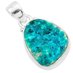 9.77cts natural dioptase 925 sterling silver pendant jewelry t3257