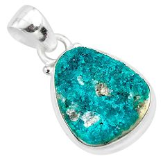 10.74cts natural dioptase 925 sterling silver pendant jewelry t3258