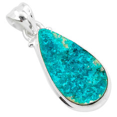 9.25cts natural dioptase 925 sterling silver pendant jewelry t3260