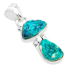 9.37cts natural dioptase 925 sterling silver pendant jewelry t5801