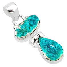 9.35cts natural dioptase 925 sterling silver pendant jewelry t5802