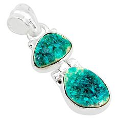 8.84cts natural dioptase 925 sterling silver pendant jewelry t5806