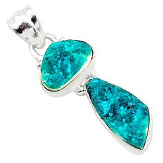 7.66cts natural dioptase 925 sterling silver pendant jewelry t5809
