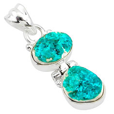 7.66cts natural dioptase 925 sterling silver pendant jewelry t5811