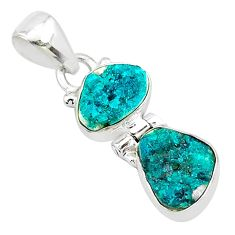 8.07cts natural dioptase 925 sterling silver pendant jewelry t5812