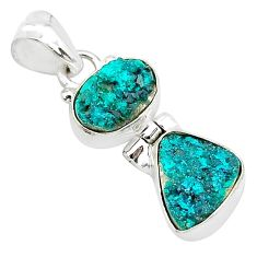 8.84cts natural dioptase 925 sterling silver pendant jewelry t5814