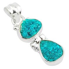 8.49cts natural dioptase 925 sterling silver pendant jewelry t5815