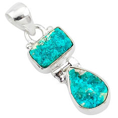 8.84cts natural dioptase 925 sterling silver pendant jewelry t5817