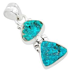 8.84cts natural dioptase 925 sterling silver pendant jewelry t5818