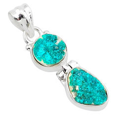 8.38cts natural dioptase 925 sterling silver pendant jewelry t5820