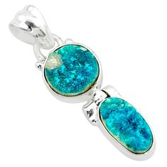 9.33cts natural dioptase oval 925 sterling silver pendant jewelry t5805