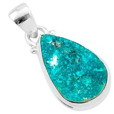9.25cts natural dioptase pear 925 sterling silver pendant jewelry t3210