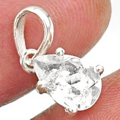 2.68cts natural faceted danburite faceted 925 sterling silver pendant r88462