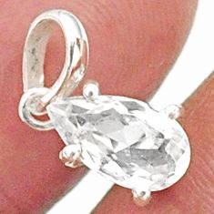 2.50cts natural faceted danburite faceted 925 sterling silver pendant r88466