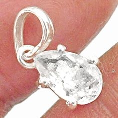 2.45cts natural faceted danburite faceted 925 sterling silver pendant r88467