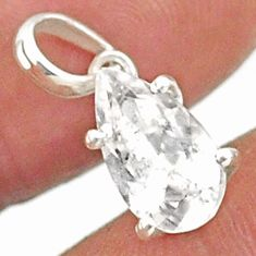 3.93cts natural faceted danburite faceted 925 sterling silver pendant r88472