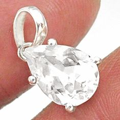 4.68cts natural faceted danburite faceted 925 sterling silver pendant r88473