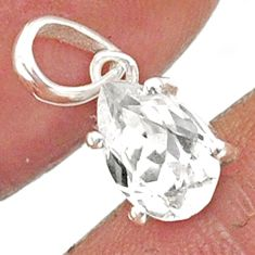 2.83cts natural faceted danburite faceted 925 sterling silver pendant r88478