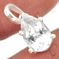 2.91cts natural faceted danburite faceted 925 sterling silver pendant r88479