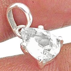 2.34cts natural faceted danburite faceted 925 sterling silver pendant r88480