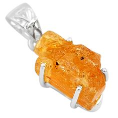 13.55cts natural golden imperial topaz 925 sterling silver pendant jewelry t6441