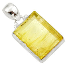 18.70cts natural golden rutile 925 sterling silver pendant jewelry d41639