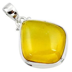 14.42cts natural green amber from colombia 925 sterling silver pendant r36002