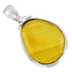 11.73cts natural green amber from colombia 925 sterling silver pendant r41866