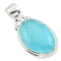 11.20cts natural green aquamarine 925 sterling silver pendant jewelry t42901