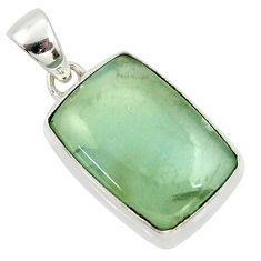 16.20cts natural green aquatine lemurian calcite 925 silver pendant r39943