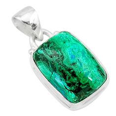 8.77cts natural green azurite malachite 925 sterling silver pendant t21508