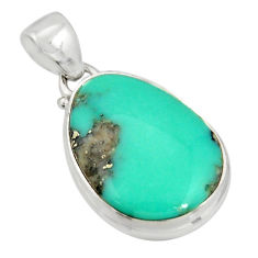 14.12cts natural green campitos turquoise 925 sterling silver pendant r20709