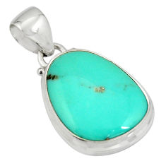 13.15cts natural green campitos turquoise 925 sterling silver pendant r20711