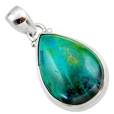 15.67cts natural green chrysocolla 925 sterling silver pendant jewelry r46570