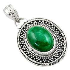 6.07cts natural green chrysocolla 925 sterling silver pendant jewelry r53142