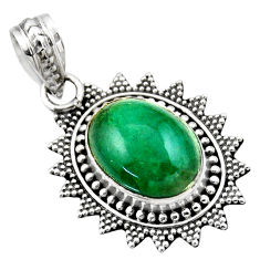 6.33cts natural green chrysocolla 925 sterling silver pendant jewelry r53143
