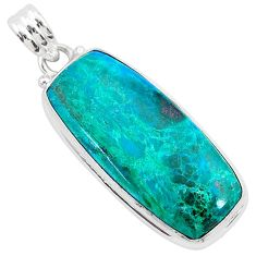 17.55cts natural green chrysocolla 925 sterling silver pendant jewelry r94900