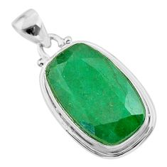 14.65cts natural green emerald 925 sterling silver pendant jewelry t47235