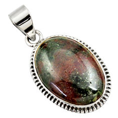 17.22cts natural green grass garnet 925 sterling silver pendant jewelry r27772