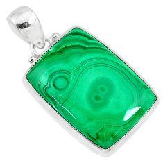 27.69cts natural green malachite (pilot's stone) 925 silver pendant r84677