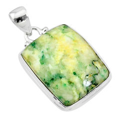 19.84cts natural green mariposite 925 sterling silver pendant jewelry t18484