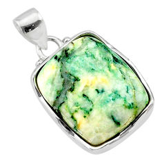 17.95cts natural green mariposite 925 sterling silver pendant jewelry t22689