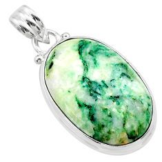 16.03cts natural green mariposite 925 sterling silver pendant jewelry t22693